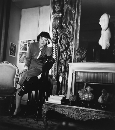 , 'Coco Chanel Leaning on Chair in her Apartment, Paris,' 1954, Staley-Wise Gallery