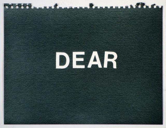 , 'Dear (black),' , Rodolphe Janssen