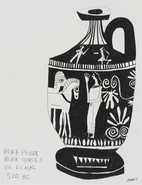 , 'Untitled (Black Figures Black Horses),' 2009, Gagosian