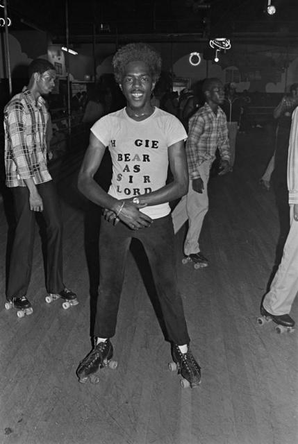 Bill Bernstein, 'Huggie Bear Tee, Empire Roller Disco, Brooklyn', 1979, David Hill Gallery