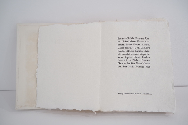 Eduardo Chillida, 'Voz Acorde', 1982, Print, Embossed etching on Segundo Santos paper, N2 Galería
