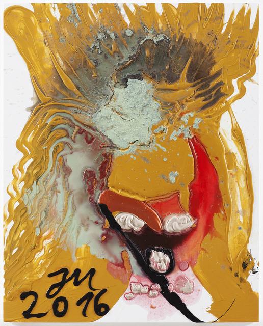 ", 'DR. KNACKPUNKT: DORT IST DE LARGE KINDERLEIN ""KOMET"" IM NÄHRRAUM ""HAL"",' 2016, David Nolan Gallery"