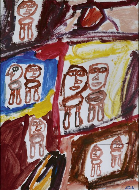 , 'Site avec 8 personnages,' 1981, Opera Gallery