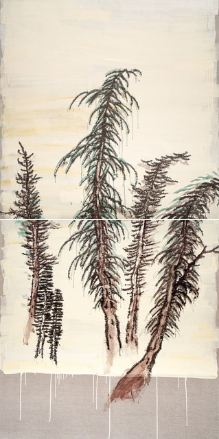 , 'Trees, Qiu Mountain Journey- Diptych,' 2016, Longmen Art Projects