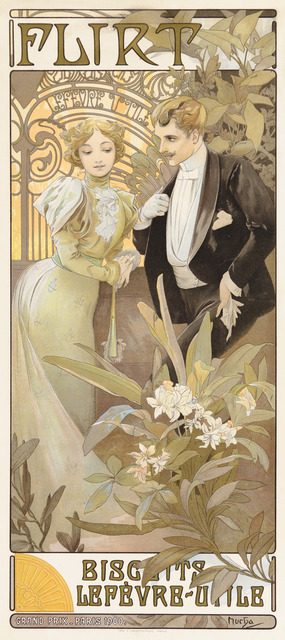 Alphonse Mucha, 'Flirt Biscuits', 1899, Christopher-Clark Fine Art