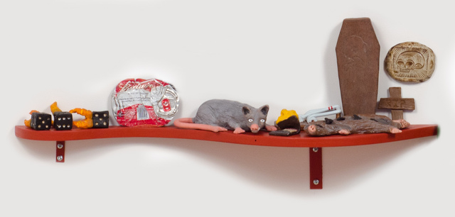 , 'Slow Down Ruby (Rat Shelf with Flattened Coke Can),' 2014, Fleisher/Ollman