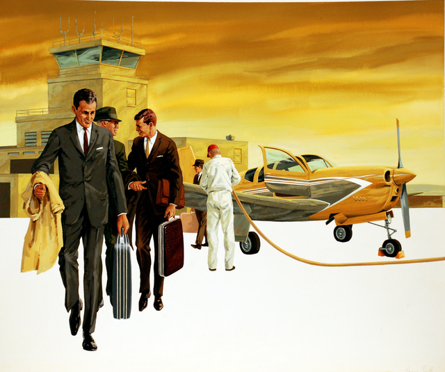Larry Salk, 'Stylish Business Executives at an Airport', 1961, Norton Museum of Art