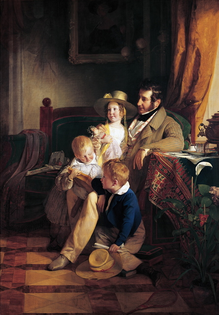 , 'Rudolf von Arthaber and his Children Rudolf, Emilie and Gustav,' 1837, Belvedere Museum