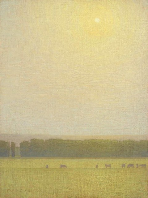 , 'Grazing Cows with Hovering Sun,' 2018, Jonathan Cooper