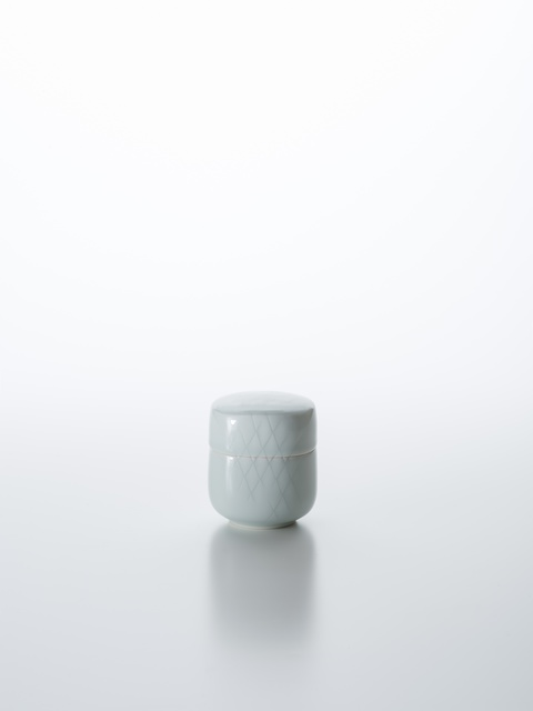 , 'Sculpted Blue-White Porcelain Tea Caddy with Hishi Pattern,' 2018, Onishi Gallery