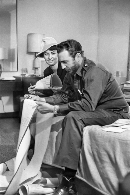 , 'Fidel Castro reading at the Cuban Embassy, Washington. Saturday, April 18, 1959,' 1959, Sous Les Etoiles Gallery
