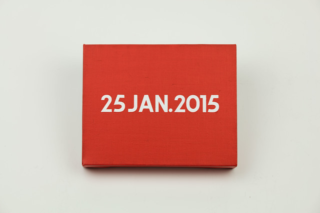 , 'On Kawara, Today Series, 25JAN.2015,' 2015, MadeIn Gallery