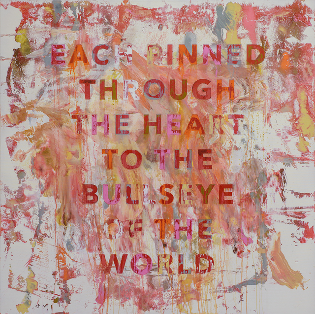 , 'Each Pinned Through The Heart To The Bullseye of the World,' 2017, Rhodes