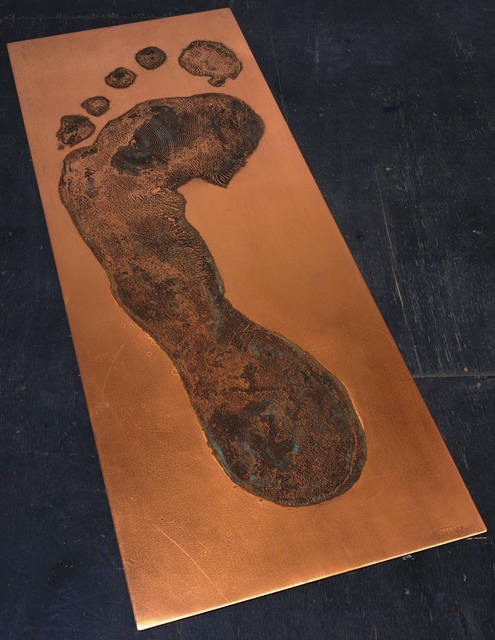 , 'Foot Print in Copper (left),' 1986, Gemini G.E.L.