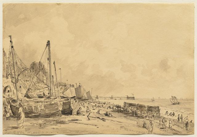 , 'Brighton Beach, Looking East,' 1824, Clark Art Institute