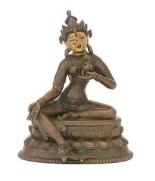 Tibetan Bronze Figure of Tara