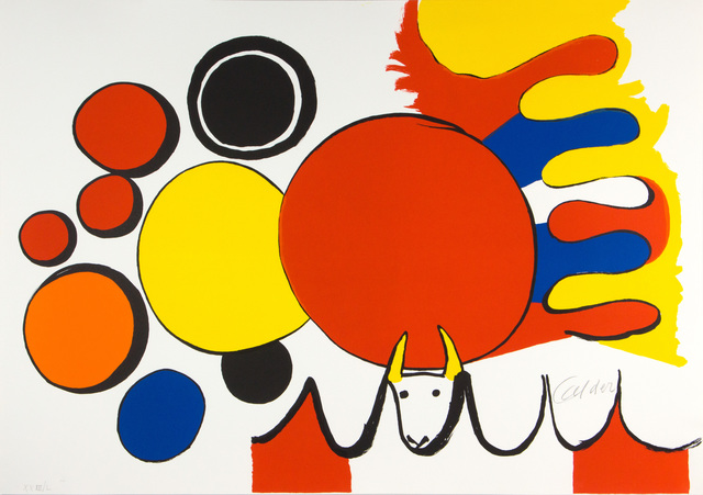 Alexander Calder, 'Bull and Circles (From Poems to Watch)', 1976, Galerie LeRoyer