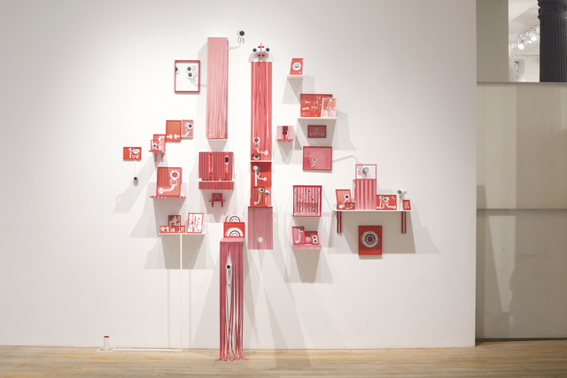Diana Cooper, 'Family Safe', 2019, Installation, Inkjet print, PVC, paper, wood, glitter felt, glitter paper, acrylic paint, artist tape, mirrors, plastic and metal frames, metal hardware, metal wire, Postmasters Gallery