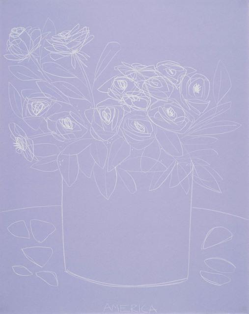 , 'Roses on Violet Paper,' 2018, JoAnne Artman Gallery