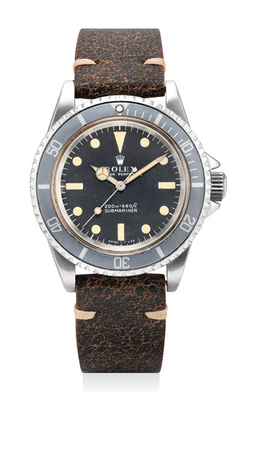 Rolex, 'A fine stainless steel diver's wristwatch with sweep center seconds and ghost bezel', Circa 1968, Phillips