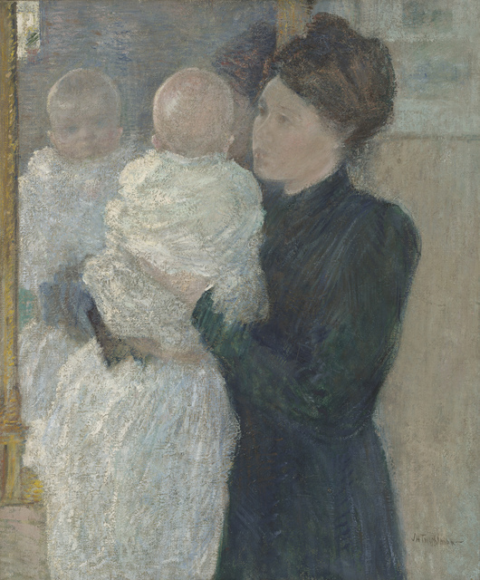 John Henry Twachtman, 'Mother and Child', 1893, Painting, Oil on canvas, de Young Museum