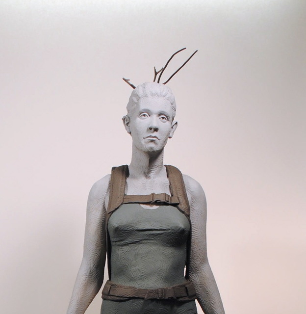 , 'Twig Girl,' 2013, AREA Gallery
