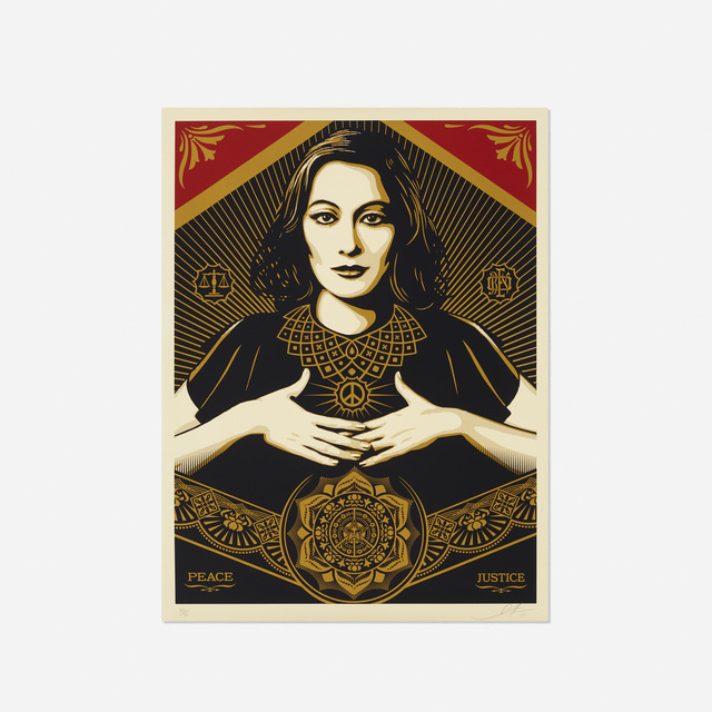 Shepard Fairey (OBEY), 'Peace & Justice Woman', 2013, Rago/Wright