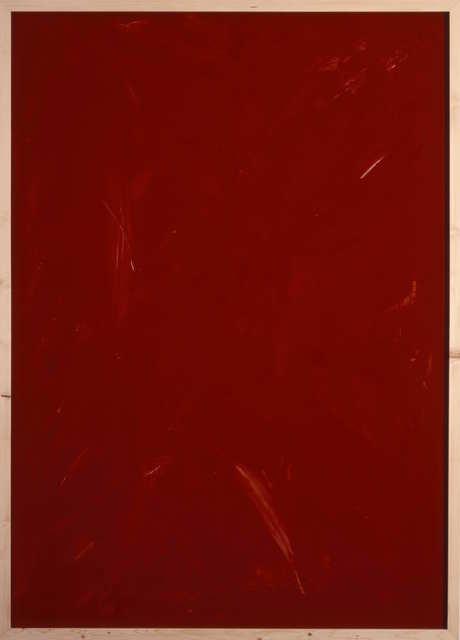 Imi Knoebel, 'Rote Acrylglaszeichnung 19', 1990, Jahn und Jahn