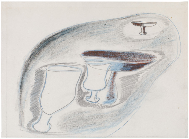 , 'Study for Chalices,' ca. 1939, Michael Rosenfeld Gallery