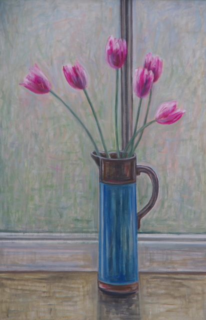 , 'Tulips In A Blue Jug,' 2018, White Court Art