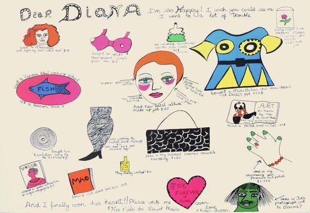 Niki de Saint Phalle, 'Dear Diana', Roseberys
