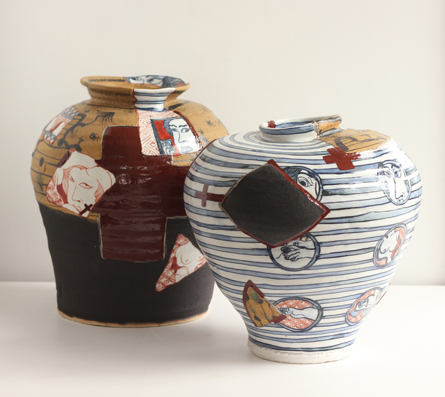 , 'Yobitsugi Style Vases #1 and #2,' 2018, Masterworks Gallery
