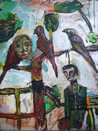 , 'No Title (Stauffenberg With Birds),' 2008, Aki Gallery