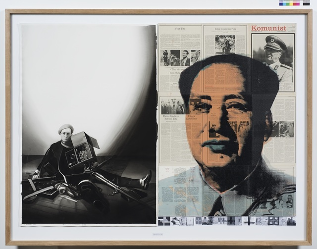 , 'DATES, Radenko Milak & Roman Uranjek,  Februar 1, 1966,  Buster Keaton Died,' 2016, Galerija Fotografija