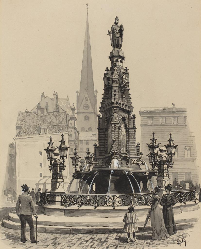 Fritz stoltenberg brunnen am fischmarkt 1893 artsy for Am fischmarkt