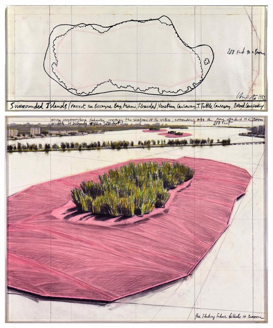 , 'Surrounded Islands (Project for Biscayne Bay, Greater Miami, Florida),' 1982, Stern Pissarro