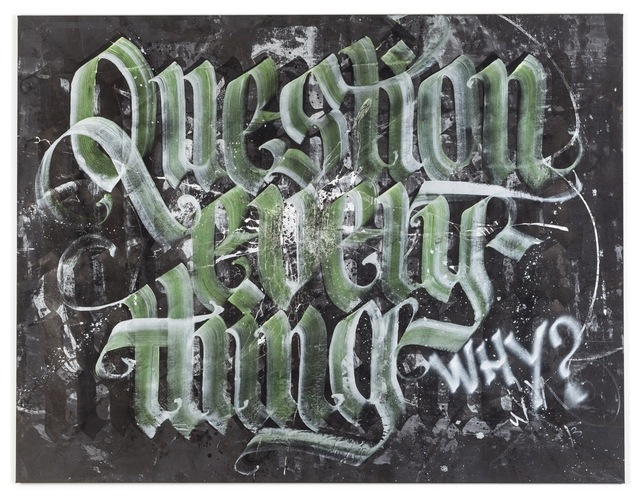 "Niels ""Shoe"" Meulman, 'question everything', 2012, Galerie Droste"