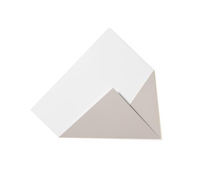 , 'XL Folded Flat White and Chestnut 01,' 2019, Galerie Nikolaus Ruzicska