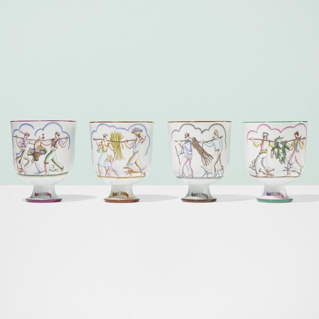 Gio Ponti, 'Le quattro stagioni vases, set of four', c. 1930, Wright