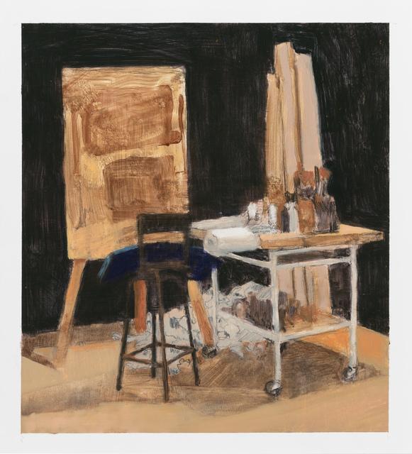 , 'Black studio,' 2017, Stevenson