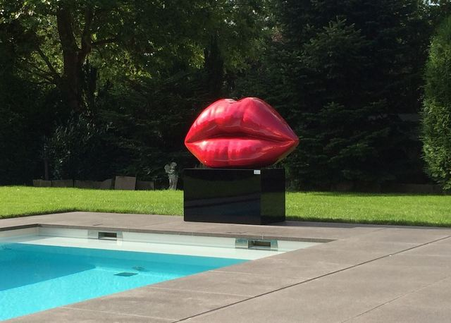 Niclas Castello, 'Big Kiss (red/gold)', 2014, Galerie Schimming