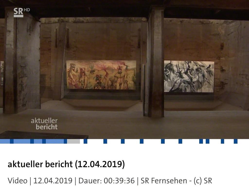 """Fousion Gallery at UrbanArt! Biennale 2019 in Völklingen;  seen 12.04.2019 at """"Süddeutscher Rundfunk"""" Full clip (in German) here:  https://www.sr-mediathek.de/index.php?seite=7&id=72746"""