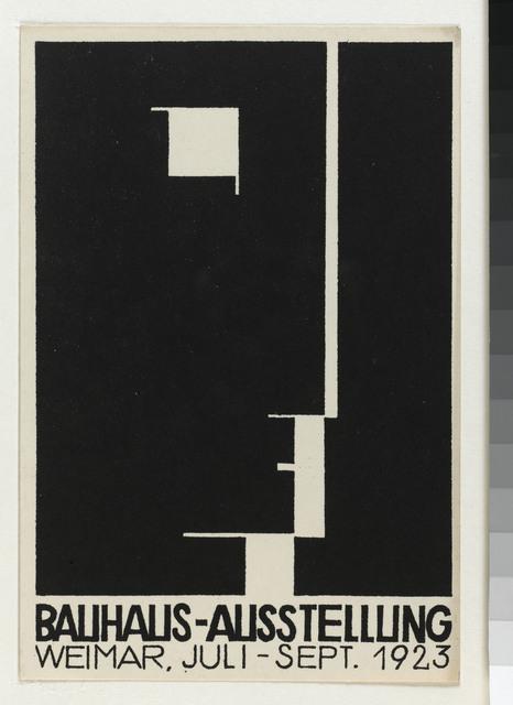 , 'Carte postale pour l'exposition Bauhaus,' 1923, Les Arts Décoratifs