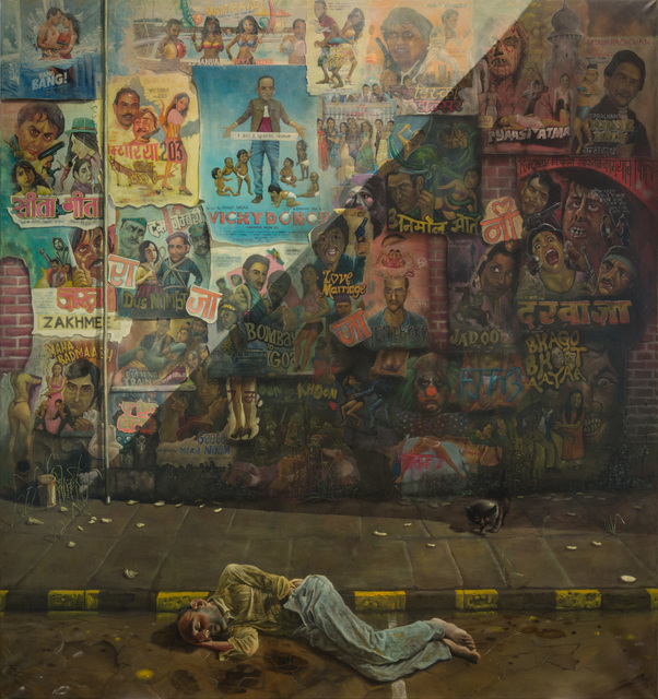 , 'Man 1/2 Sleeping, 1/2 Masturbating, 1/2 Dying, corner Dr V. B. Gandi Marg and Mahatma Gandi Rd,,' 2017, Ronald Feldman Gallery