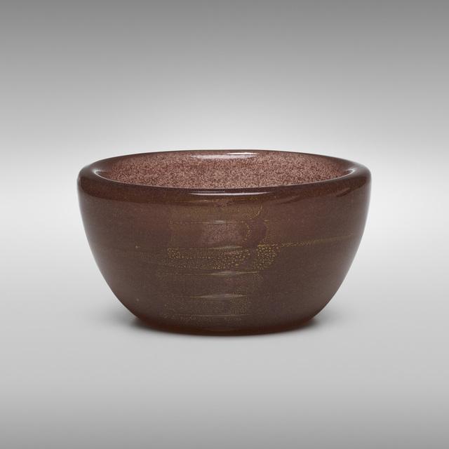 Carlo Scarpa, 'Sommerso a Bollicine bowl, model 3522', c. 1934, Wright