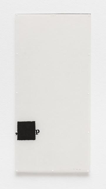 , 'Untitled [Little Stubs series] ,' 1972, Bergamin & Gomide