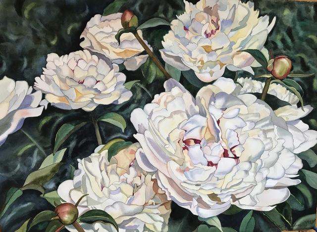 , 'Passion of Peonies,' 2017, Bernay Fine Art