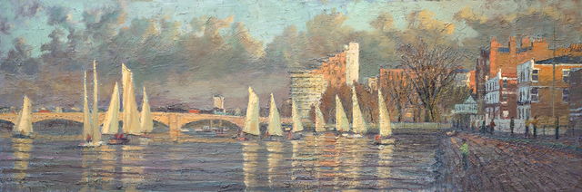 , 'Regatta on the Thames,' 2015, Tanya Baxter Contemporary