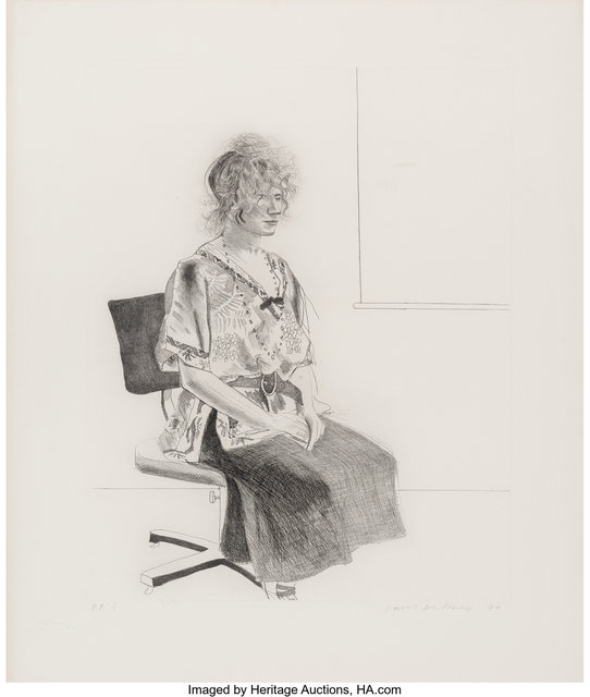 David Hockney, 'Celia Seated in an Office Chair', 1974, Heritage Auctions