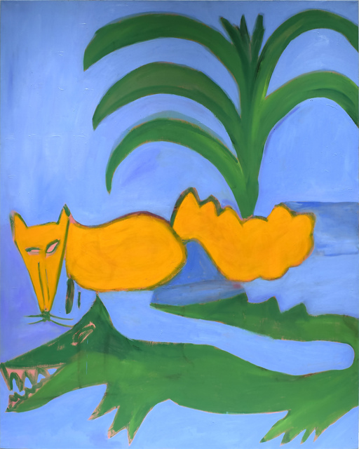 Elizabeth Enders, 'Fox and Alligator', 1985, Painting, Oil on canvas, Betty Cuningham